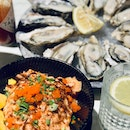 Naked Oysters with Aburi Salmon Don