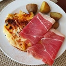 Raclette With Baby Potatoes And Prosciutto