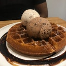 Waffles And Ice Cream