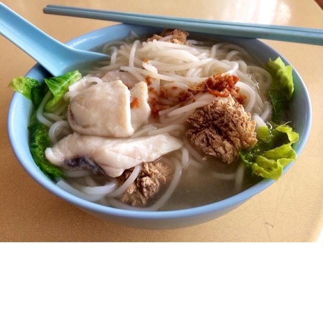 Fish Slice Beehoon Soup + Fish Roe ($5)
