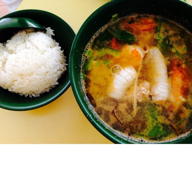 Seafood Soup + Fish Roe ($5)