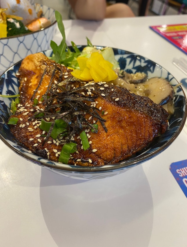Teriyaki Salmon Don