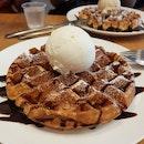 Lychee Martini Ice Cream + Waffles