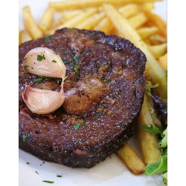 250g roasted ribeye steak ($42) @ shelter in the woods
