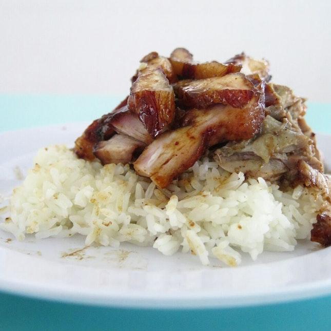 char siew rice + roast duck ($5) @ jiu jiang