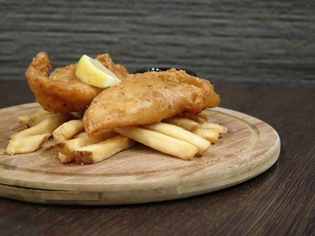 fish and chips ($9.50) @ the carving board