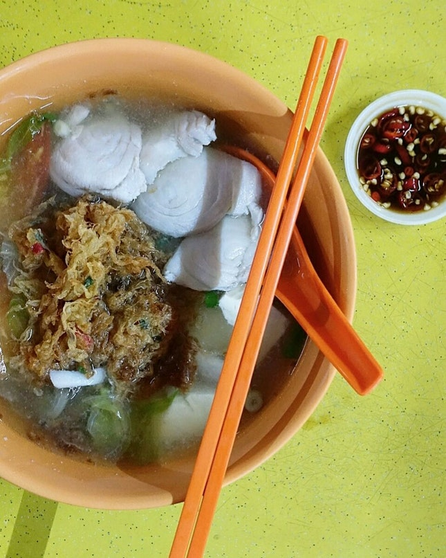 fish soup ($5) @ tuas village eating house