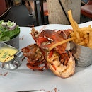 Grilled Lobster With Fries & Salad ($60++)
