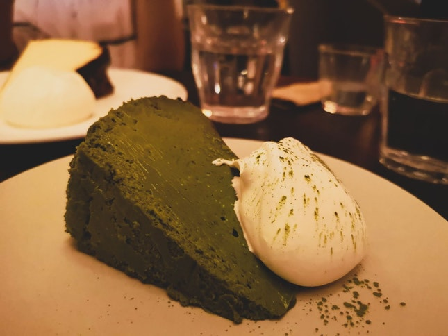 NikoNeko Burnt Matcha Cheesecake