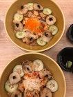Aburi Scallop & Salmon Don