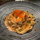 Hot Mentai Salmon pasta
