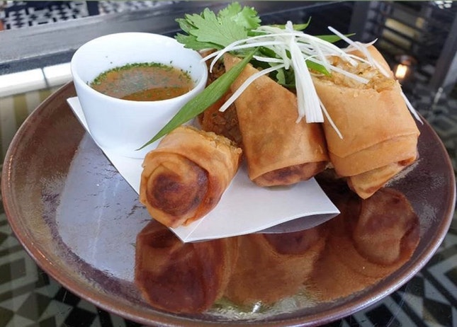 Chicken 'Laksa' Spring Roll | $22