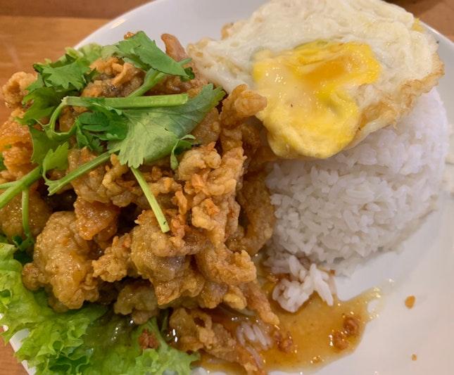 Honey Chicken Rice + Egg | $6.50
