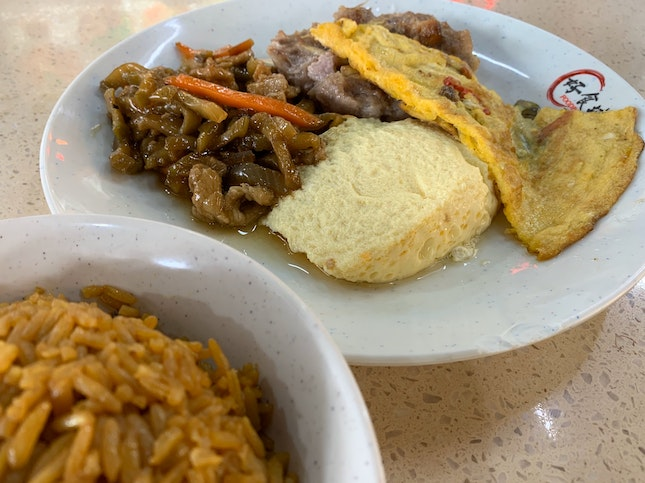 Mixed Vegetable Dishes + Pumpkin Rice | $6.10