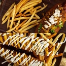 Signature Cheesy Spicy Coney (Beef) & Mozzarella Corn Dog Served With Fries