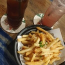 Original Long Island Iced Tea, Berry Long Island Iced Tea And Truffle Fries