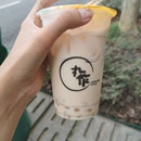 Taiwan Milk Tea With Peach Pearls