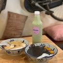 Black Soy Milk, Sesame Paste Soybean Curd & Brown Sugar Soybean Curd