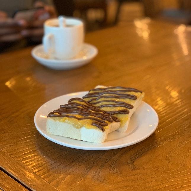 Banana Chocolate Toast