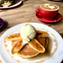 Caramelised Banana Pancake With Vanilla Ice Cream.