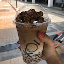 Caramel Popcorn Tea Latte (25% Sugar, w pearls)
