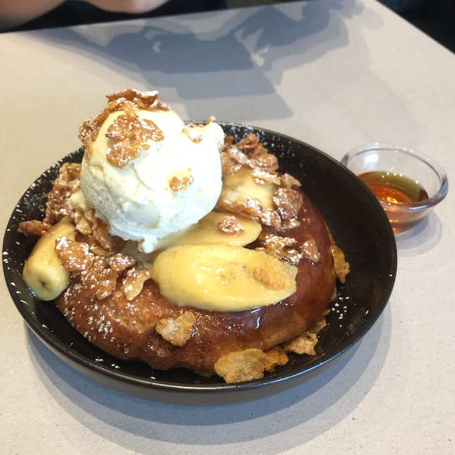 Butterscotch Banana Pancakes (~$18+)