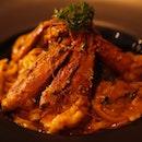 Curry Linguine Prawn (?)