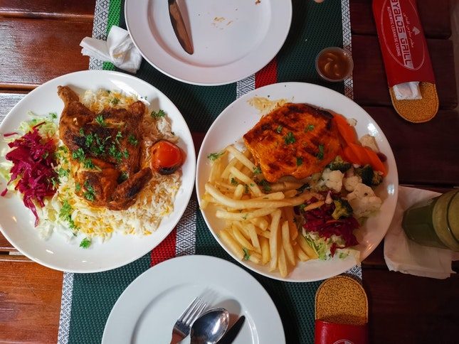 Chicken Kabsa & Grilled Chicken Steak