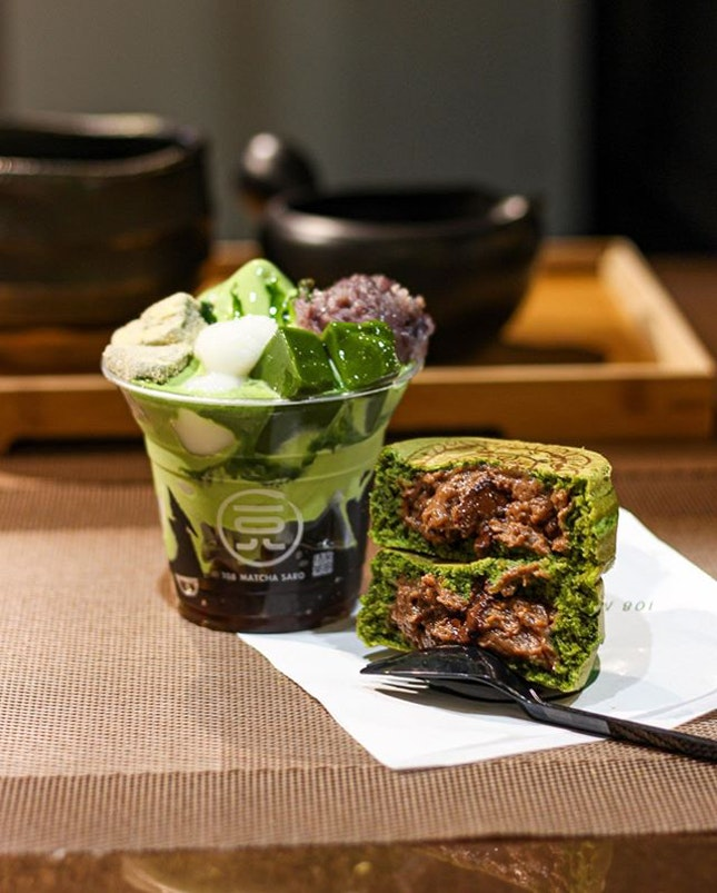 [🇸🇬] #culivinarysg  108 MATCHA SARO Quite recently opened in July, 108 Matcha Saro offers Japanese sweets from obanyaki, warabi mochi, up to matcha & hōjicha soft serves and parfaits.