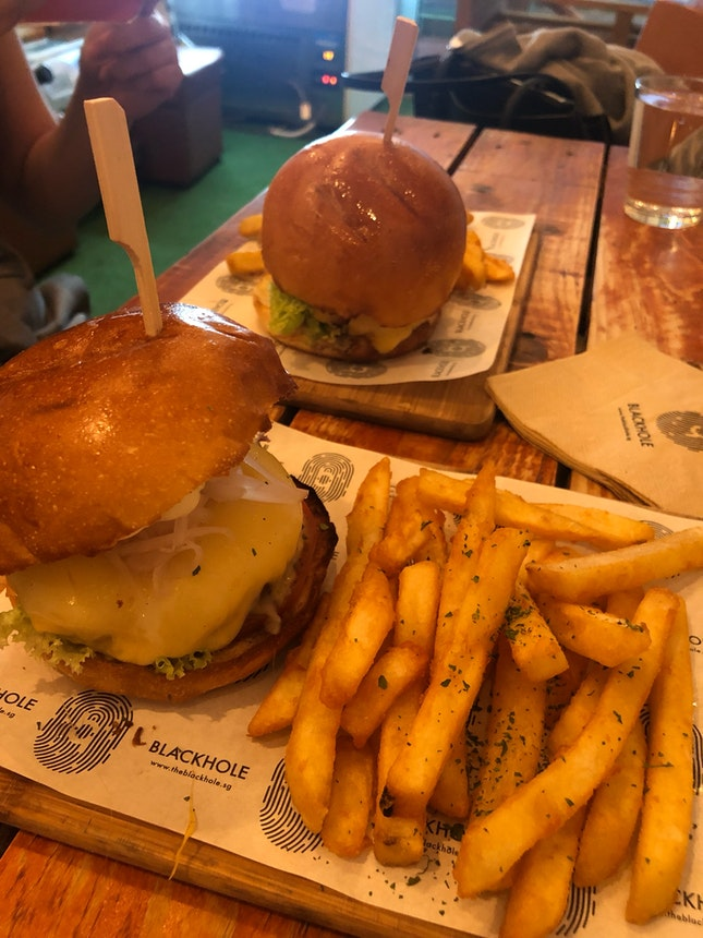 Cheese and Whiskers Burger