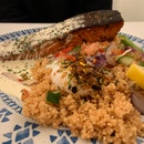 Salmon Turkish Couscous ($22)