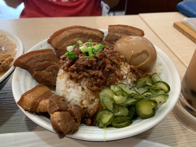 滷肉飯 Braised Pork Rice ($6.80)