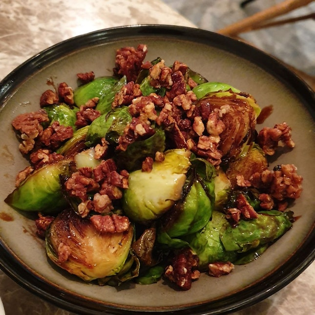 Brussel Sprouts With Walnuts Appetiser