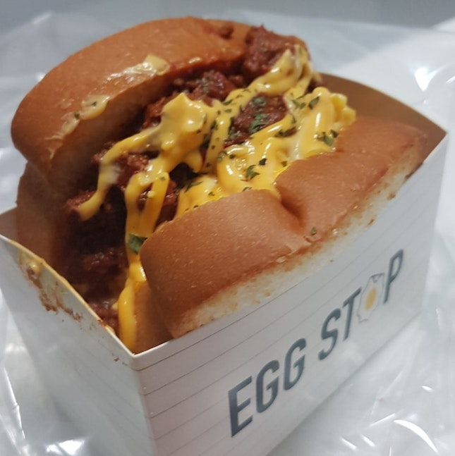 Egg Stop beef chilli cheese