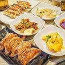 Gyoza set meal ($13.90)