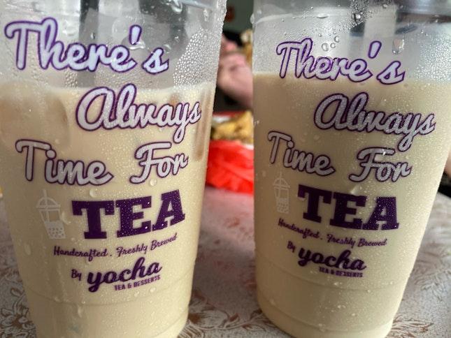 Earl Grey Milk Tea & Roasted Sen Cha Milk Tea