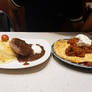 Omu Steak Rice And Pasta