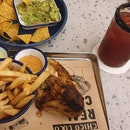 Quarter Chicken, Fries With Chipotle Sauce