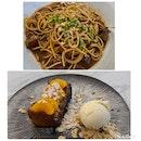 Short ribs w Red wine pasta; Orange Bread Pudding