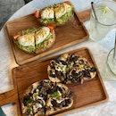 Egg + Avo, Mushroom Toast