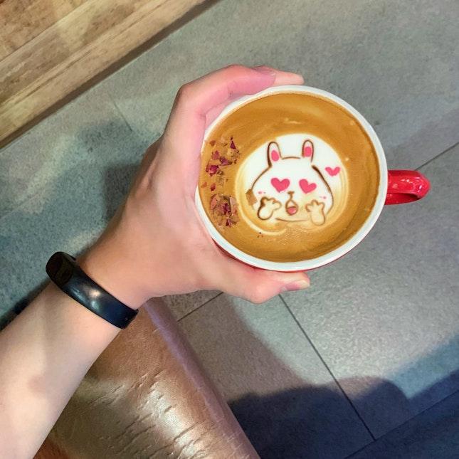 Rose Latte On A Monday
