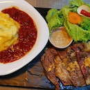 Sirloin Steak Omu Rice Set (45sgd)
