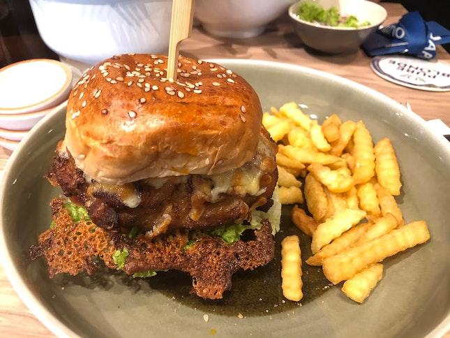 Chicken burger filling