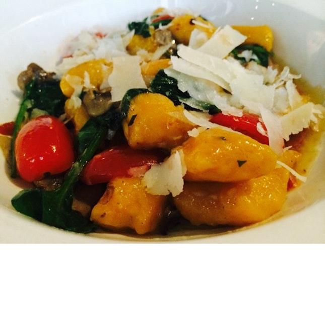 Pumpkin Gnocchi With Shredded Parmesan