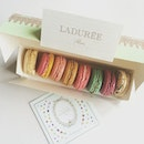 Monday mornings are always better when you have a box of delicious and pretty macaroons from Laduree..