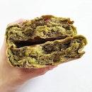 Some dense matcha bread from gokoku bakery!