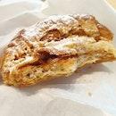 Salted Caramel Banana Almond Croissant.