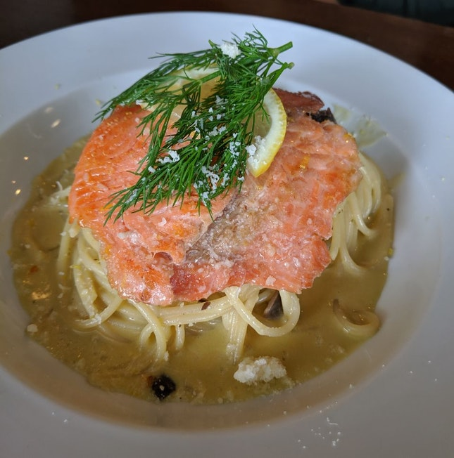 Smoked Salmon Lemon Carbonara