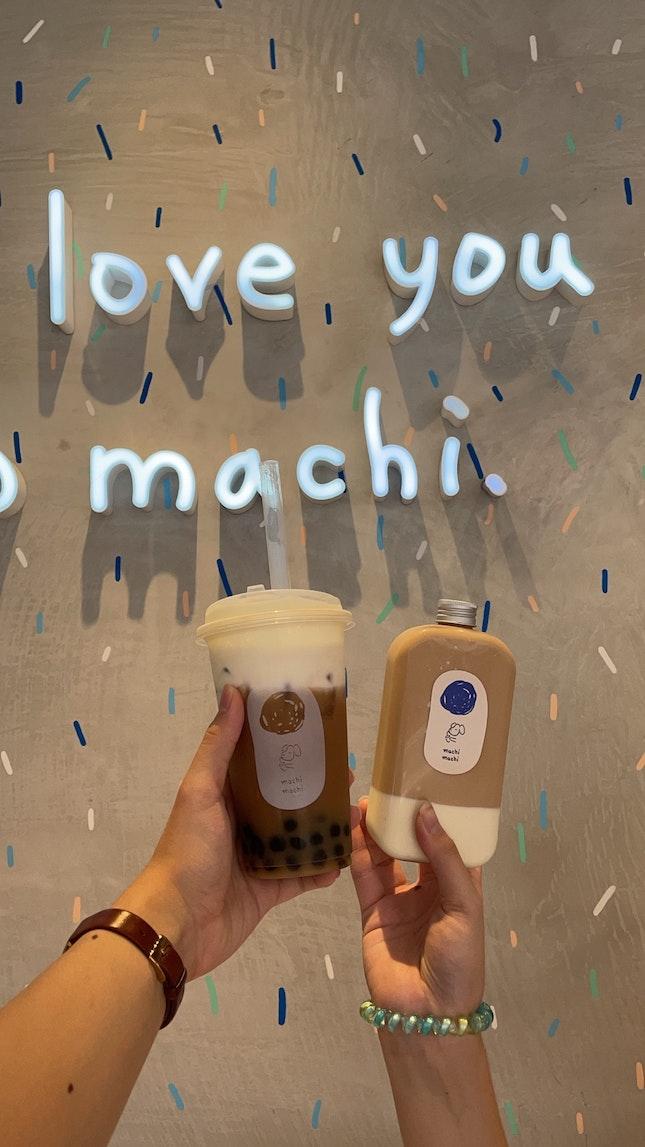 Machi Machi Cream Cheese Foam Oolong Tieguanyin Tea And Black Milk Tea With Panna Cotta