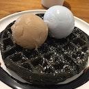 waffles + ice cream